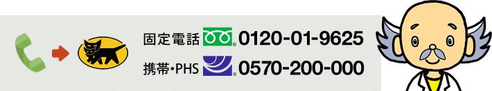 固定電話0120-01-9625 携帯・PHS0570-200-000
